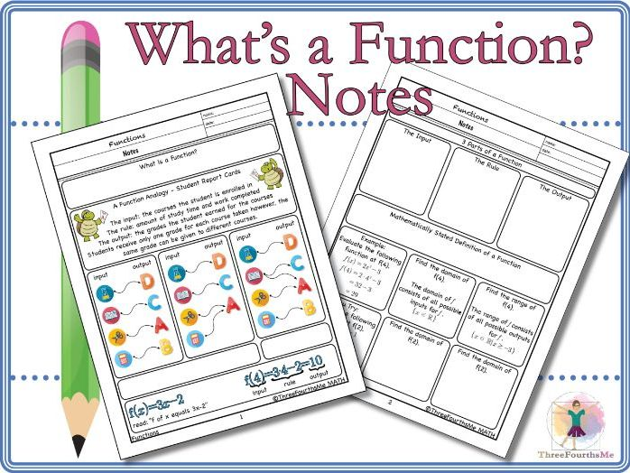 What's a Function? Notes