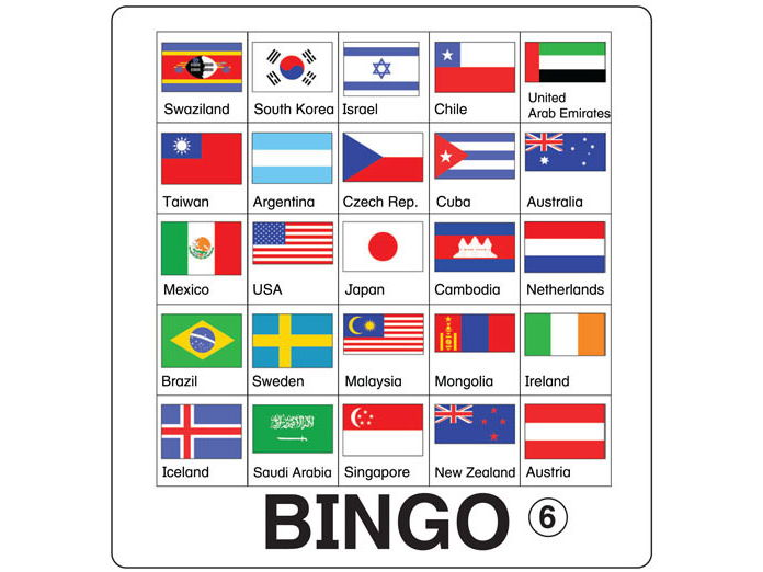 ESL Games - Flag Bingo