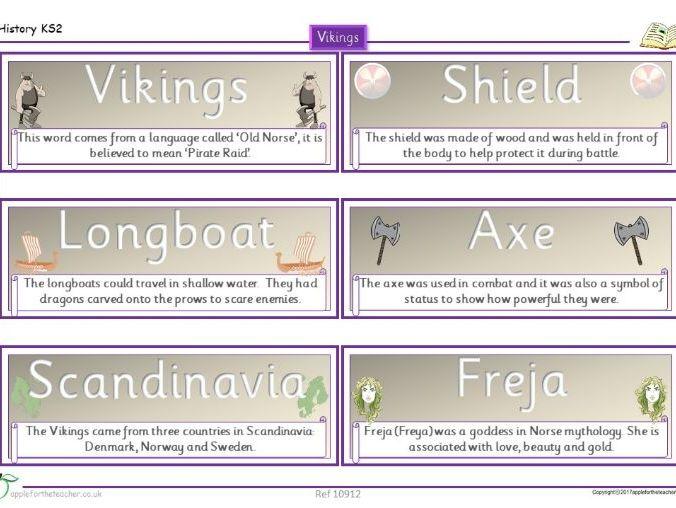 Year 3 Free Resource | Viking Vocabulary