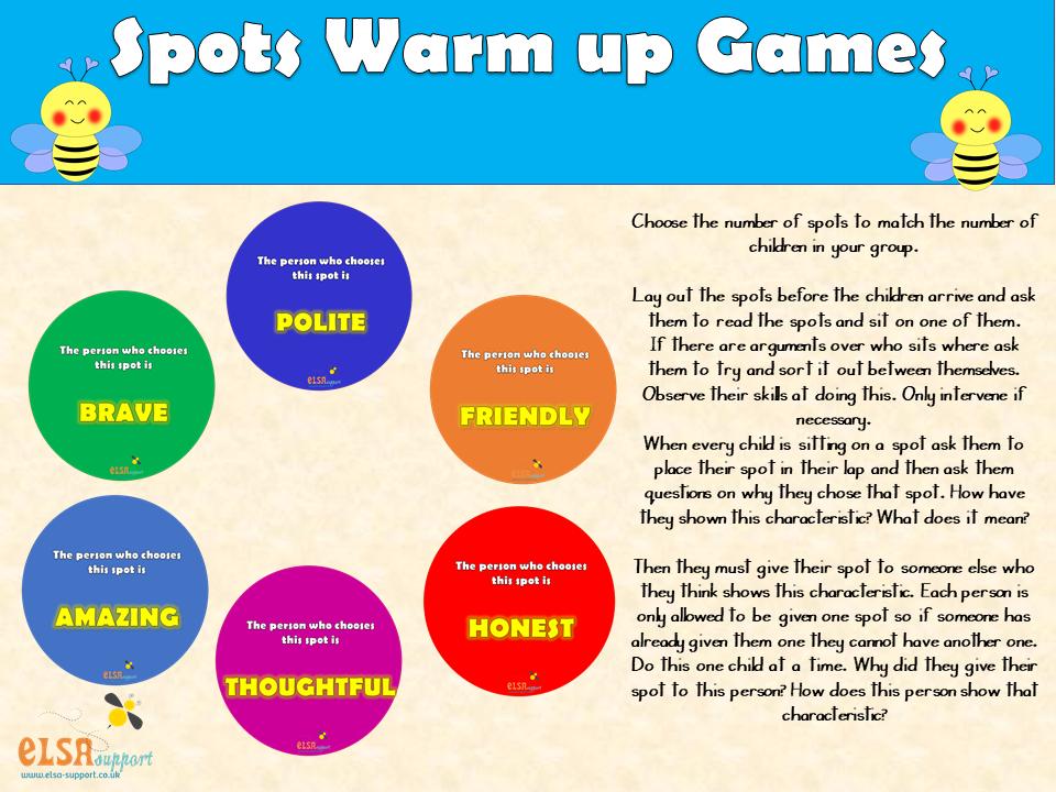 elsa support spots warm up game