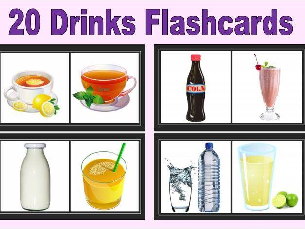 20 Drinks Flashcards