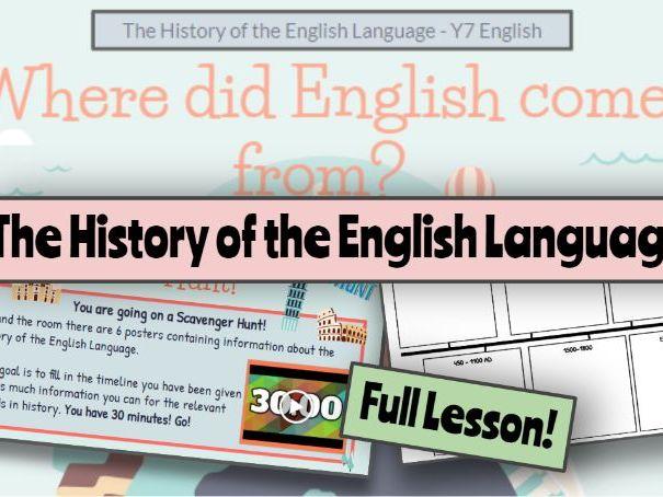 KS3 History of the English Language Y7/Y8 English / Social Studies / History