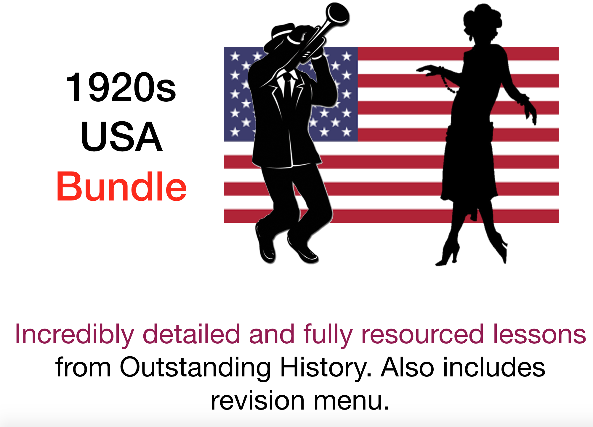 USA 1917-41 - 9 x Lesson Bundle (with Course Notes & Revision Menu)