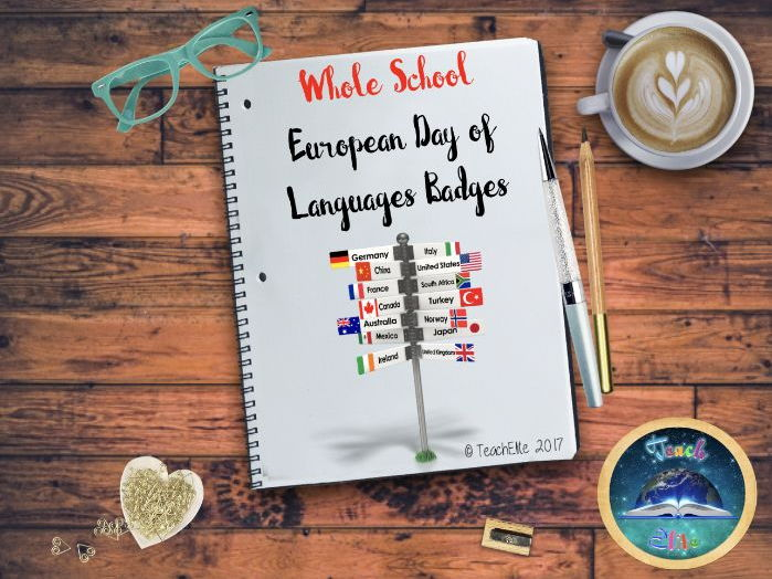 European Day of Languages Pin Badges