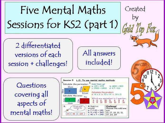 Five full mental maths sessions for KS2 (part 1)