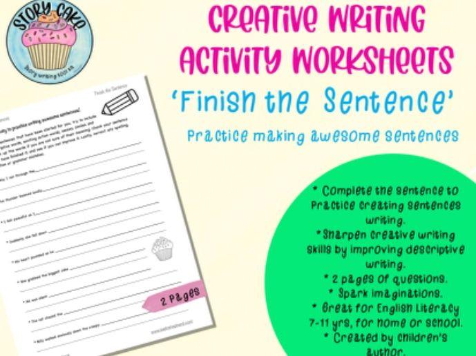 Awesome Sentences - 'Finish the Sentence' - Practice creative & descriptive, develop writing skills