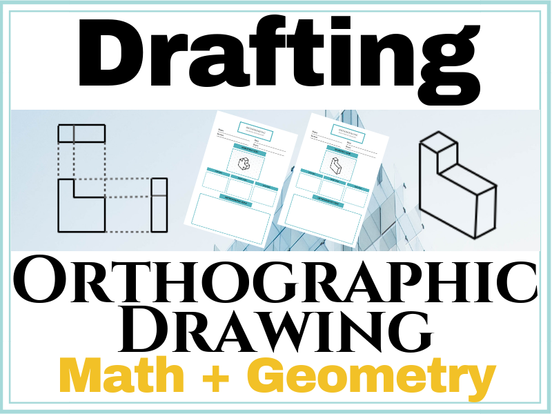 Orthographic Drawing Worksheet | Isometric to Orthographic Drawing Exercises