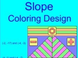 SLOPE - FINDING SLOPE OF TWO POINTS COLORING ACTIVITY