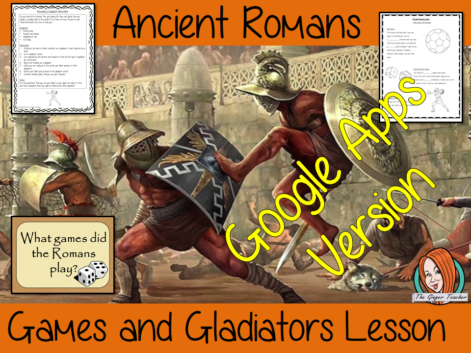 Distance Learning Ancient Roman Games and Gladiators