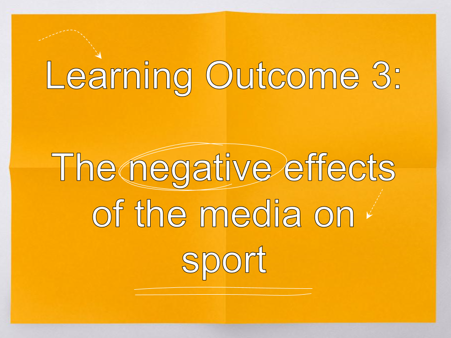 OCR Sports Studies R054 Negative Effects of the Media PPT