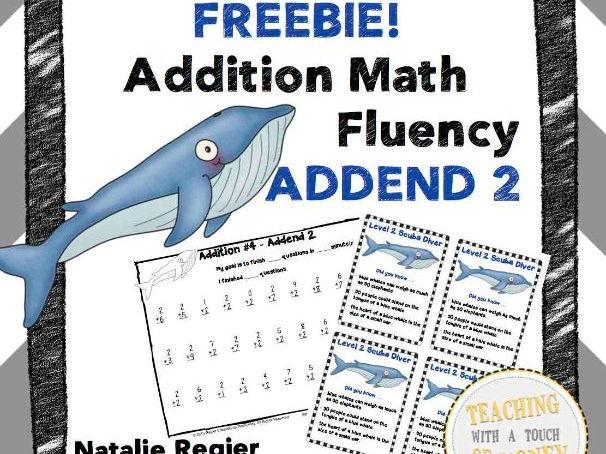 Addition Math Fluency Addend 2 FREEBIE!