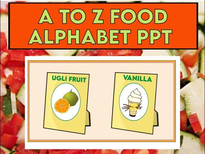 A to Z Food Alphabet EYFS KS1