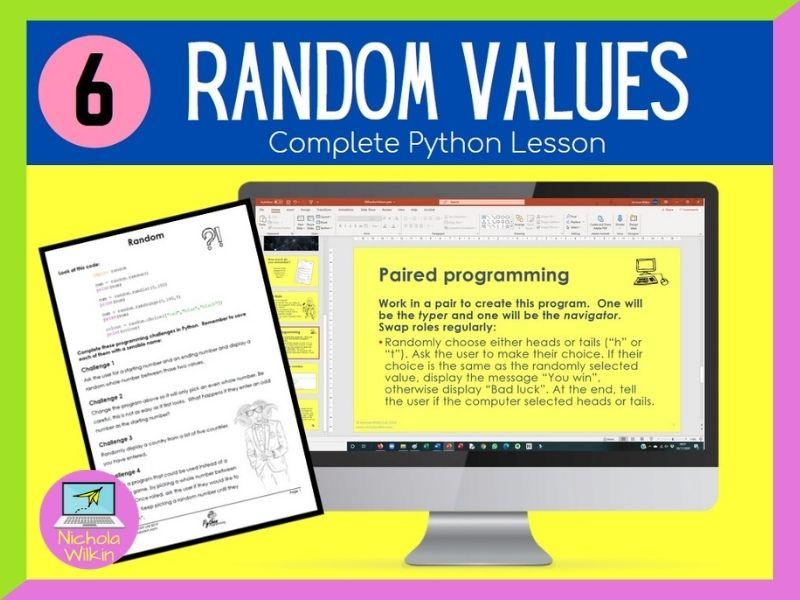 Python Random Values Lesson