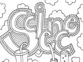 58 Free Science colouring images