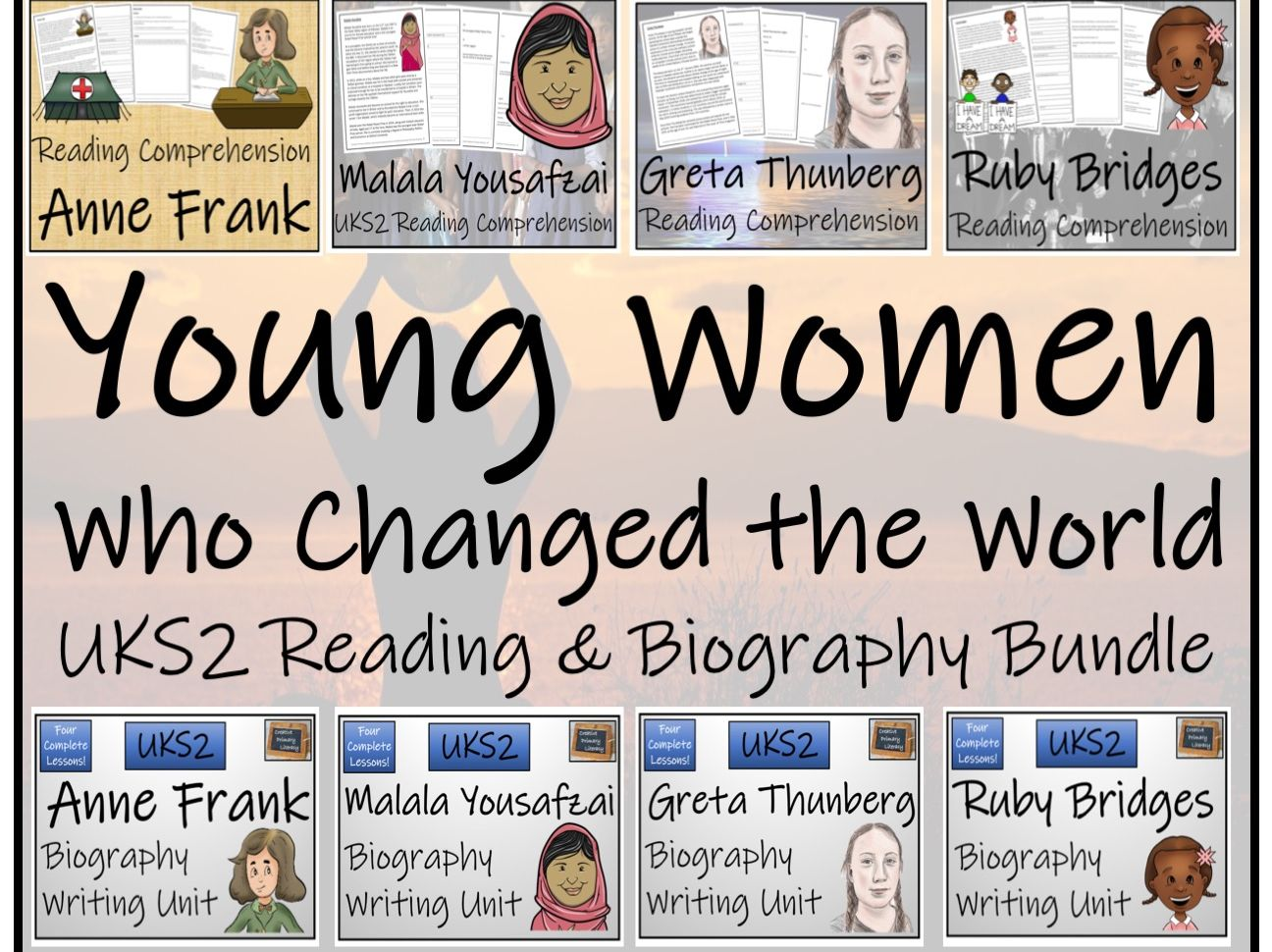 UKS2 - Young Women Who Changed the World Reading Comprehension & Biography Bundle