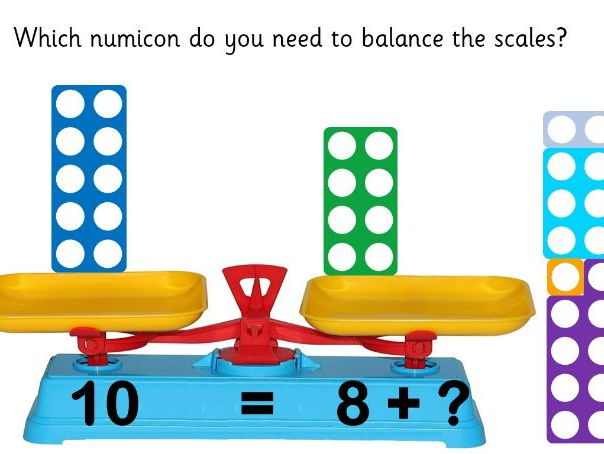 Numicon Number Bonds to 10 - Animated Powerpoint