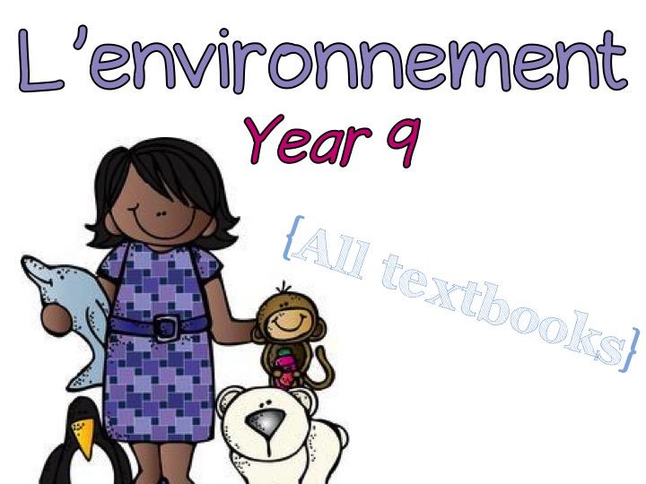 L'environnement - Year 9 - French - On doit - On ne doit pas
