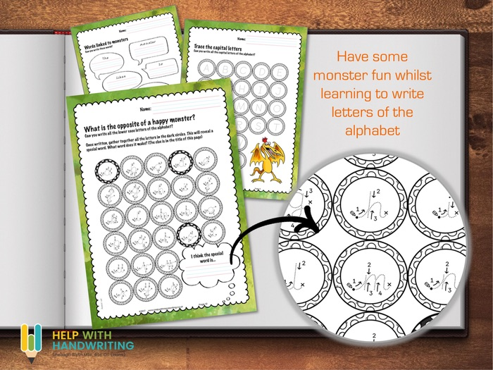 Monster Themed ABC Worksheets