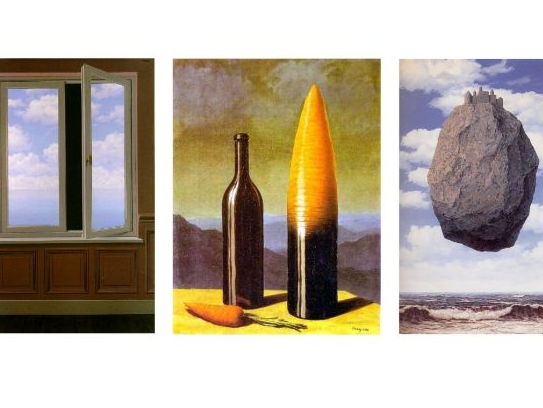 Rene Magritte Surrealism Artwork Examples. (High Resolution)