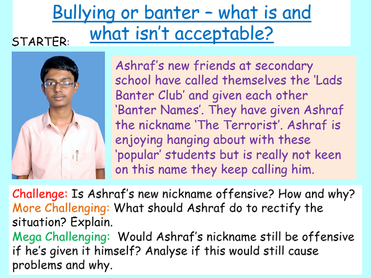 Anti-Bullying Week - Bullying or Banter?