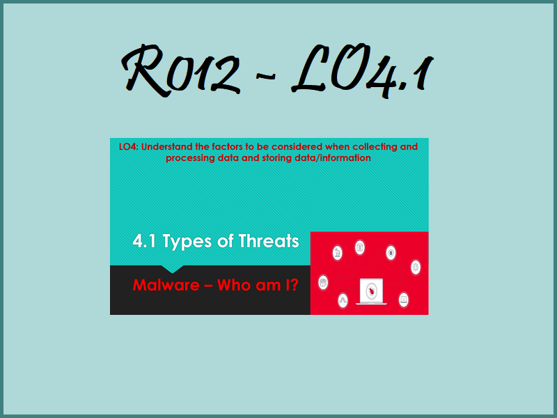 R012 LO4.1 - Malware - Who am I
