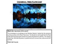 Close reading notes - analysis of Oodgeroo, 'Reed Flute Cave'