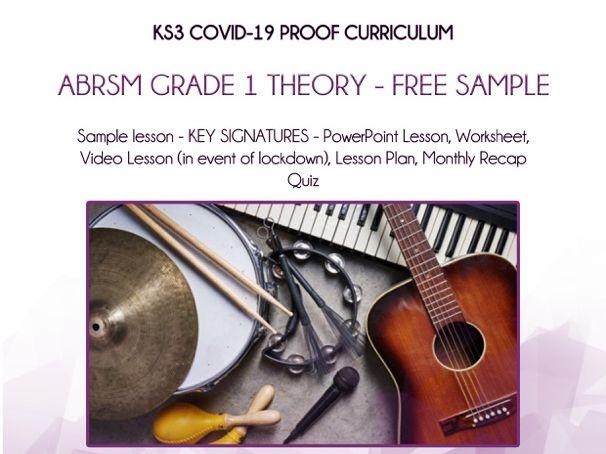 COVID-19 Proof Music - Sample Lesson - Key Signatures