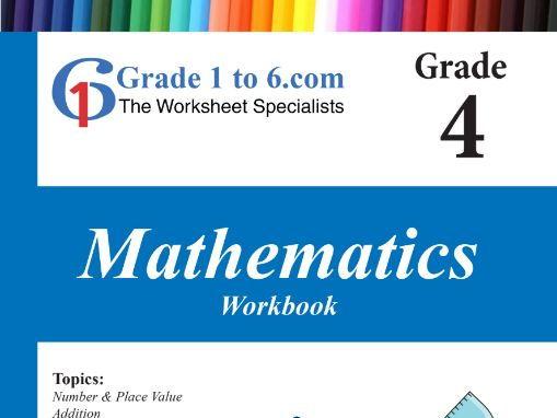 Grade 4 Maths Workbook from www.Grade1to6.com Books