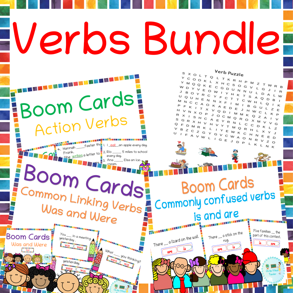 Verb Boom Cards bundle helpful for Distance learning