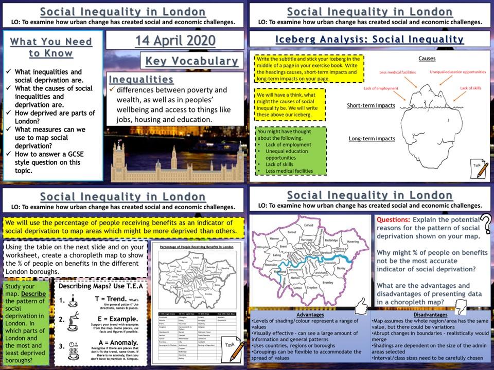 Urban Change in the UK: Social Inequality in London