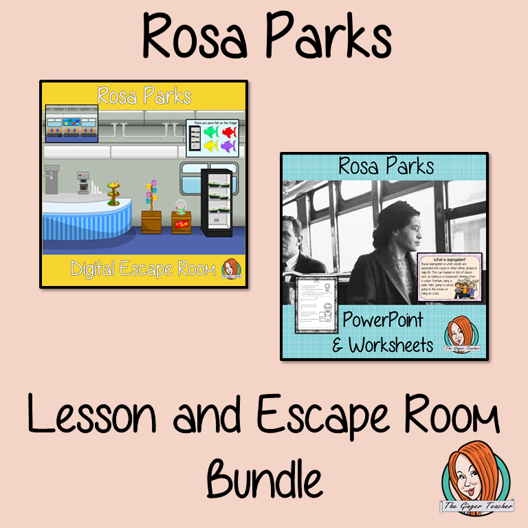 Rosa Parks Lesson and Escape Room Bundle