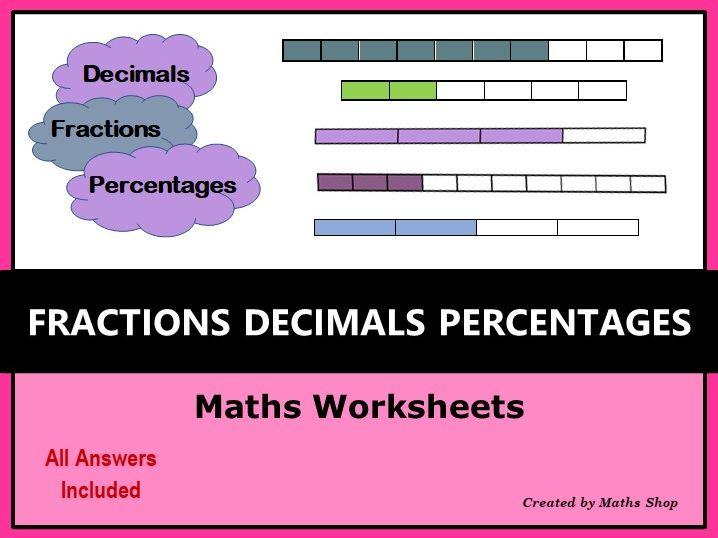 Fractions Decimals Percentages Conversions