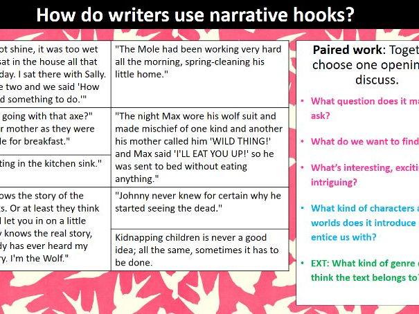 Writing to describe narrate