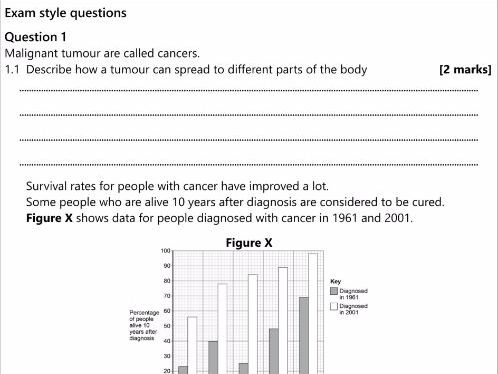 GCSE AQA  B7.2 Cancer workbook
