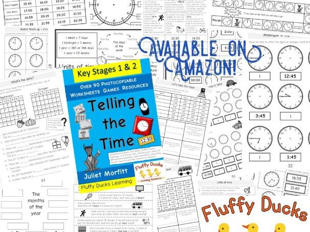 Telling the Time Book Photocopiable over 90 resources worksheets games problem solving activities