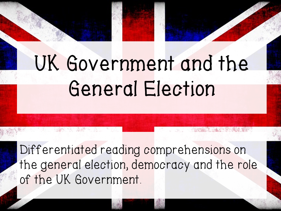 General Election - differentiated reading comprehension