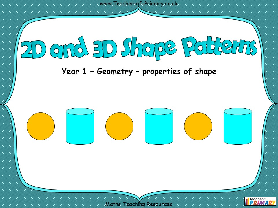 2D and 3D Shape Patterns - Year 1