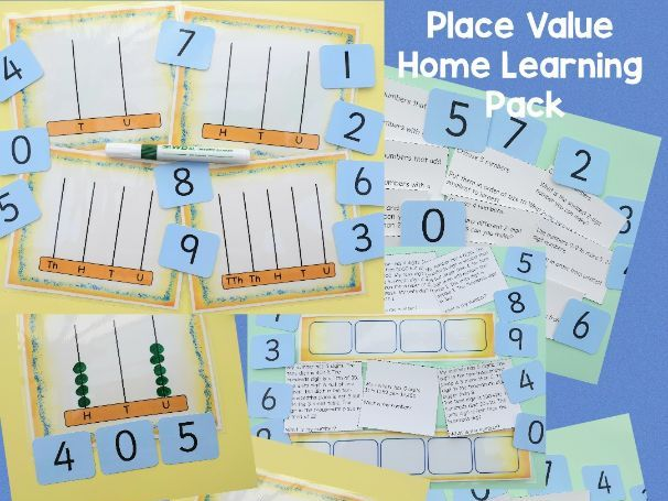 Distance Learning Place Value Problem Solving Challenges PLUS Abacus Frames Print & Laminate