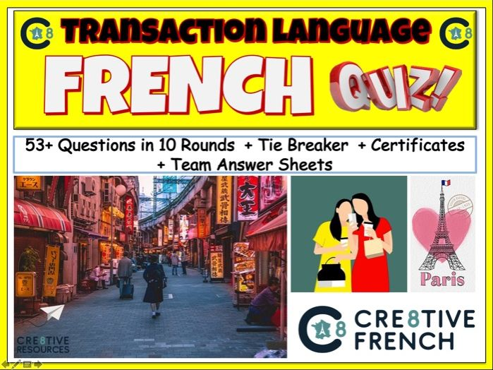 Transaction Language - French GCSE