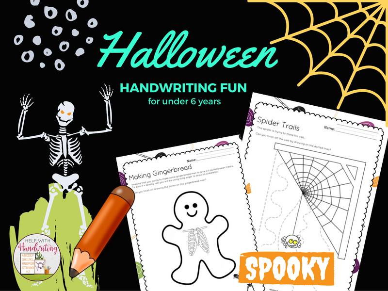 Early Years Halloween Handwriting Activities for Reception and Year 1