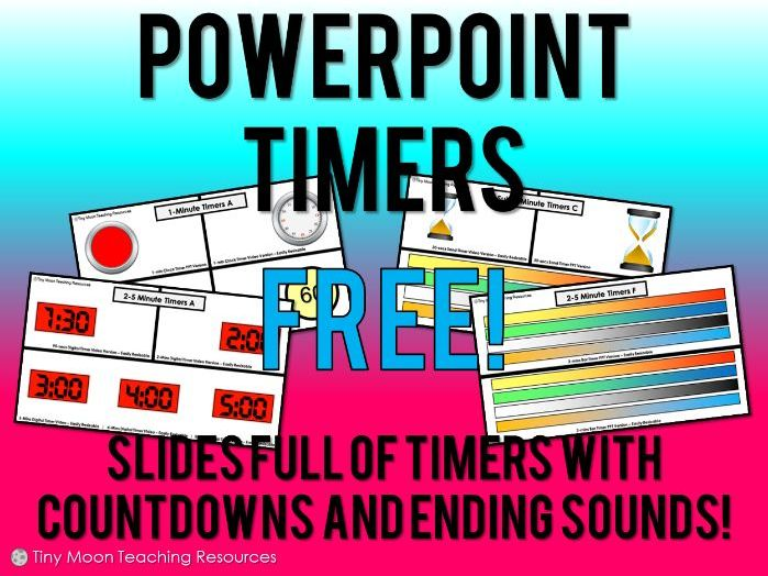 15-Second to 20-Minute PowerPoint Timers (Various Styles) v2.0