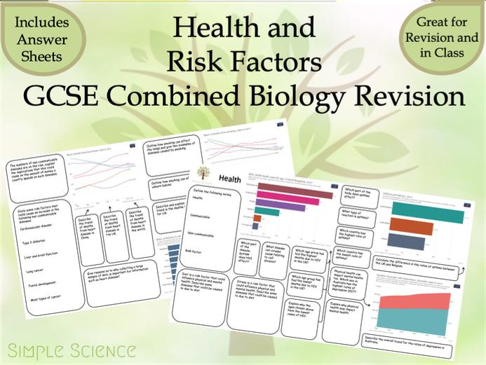 Health and Risk Factors Revision Mats - AQA Combined Biology GCSE