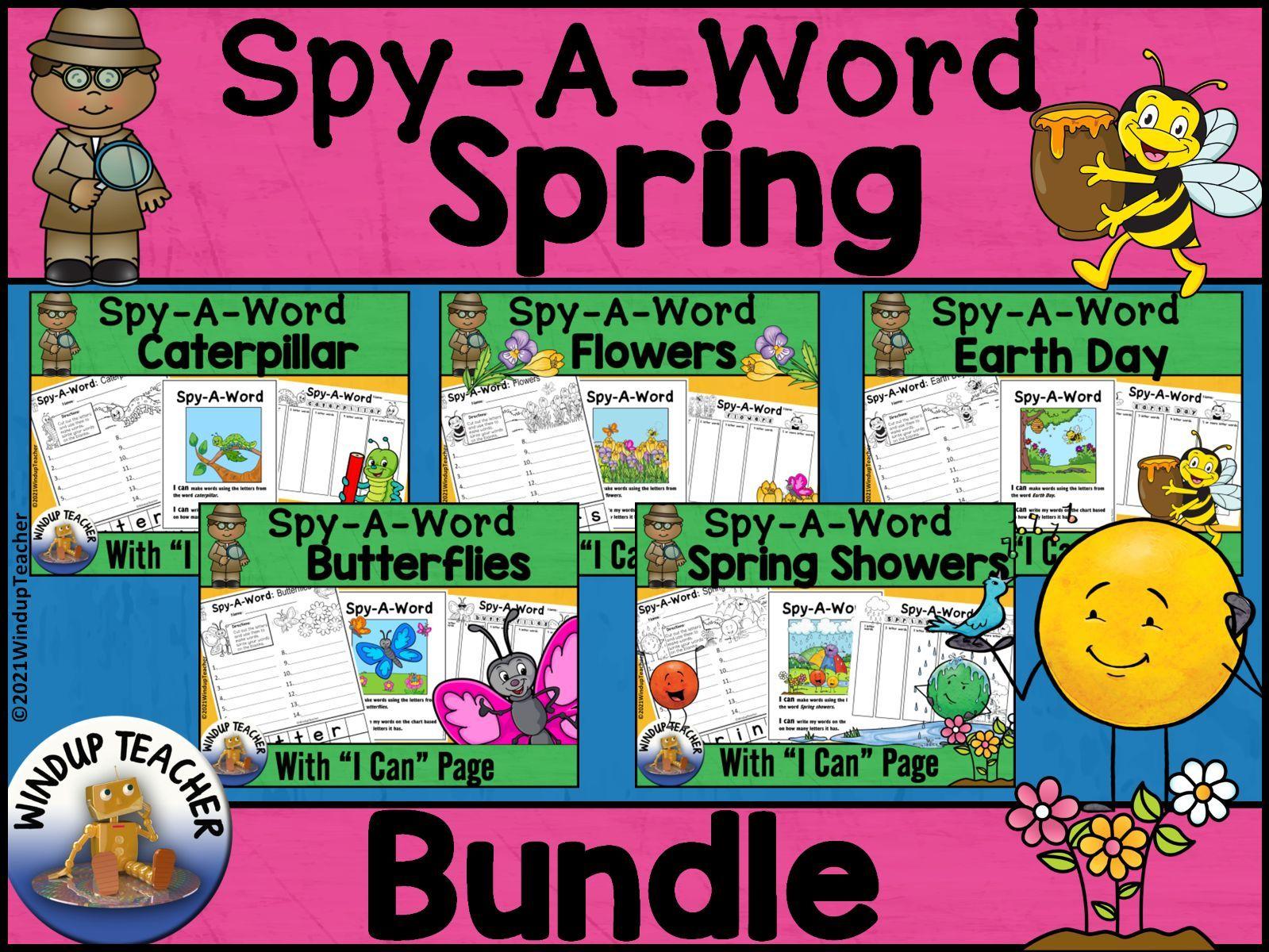 Spring Word Work Activity Center BUNDLE