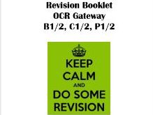 Biology, Chemistry and Physics GCSE OCR Gateway Exam Questions for Units 1 and 2