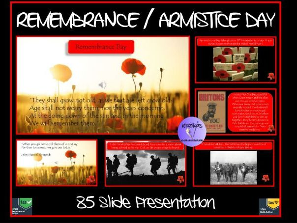 Remembrance Day / Armistice Day / Remembrance Day Presentation