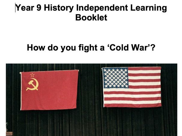 Y9 The Cold War booklet