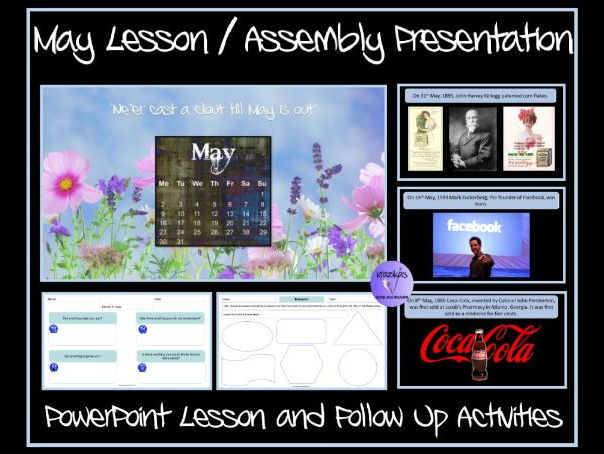 May PowerPoint Lesson and Follow Up Activities With Worksheets