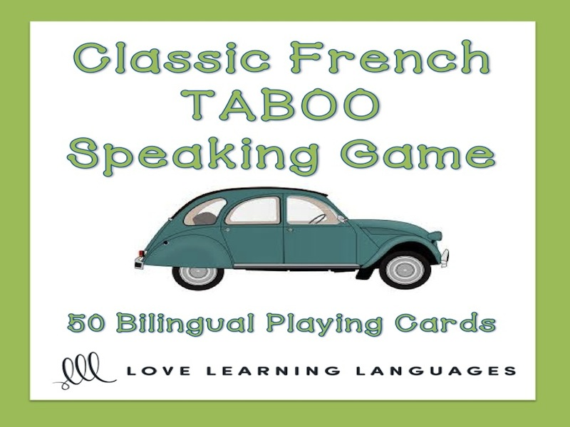 Classic French Taboo Speaking Game - Version 2 - Jeu de Tabou en Français