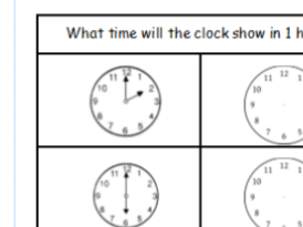 Time interval problems KS1