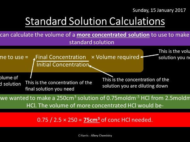 NEW OCR B (Salters) EL -  Formulae, equations and amount of substance Revision